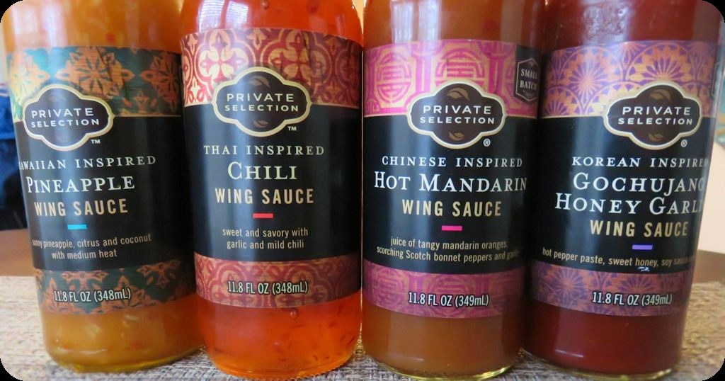 Private Selection wing sauces